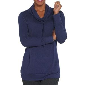 AnyBody Brushed Hacci Cowl Neck Pullover Top